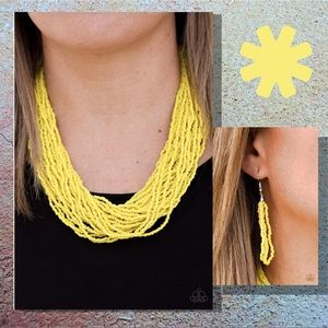 The Show Must Congo On Seed Bead Necklace Set